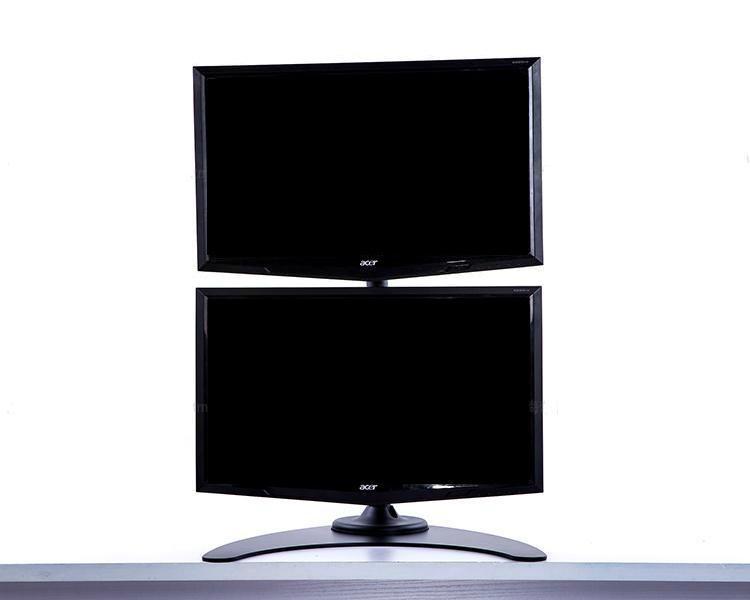 上下屏電腦挂架  証券顯示器支架  雙屏電腦支架 1