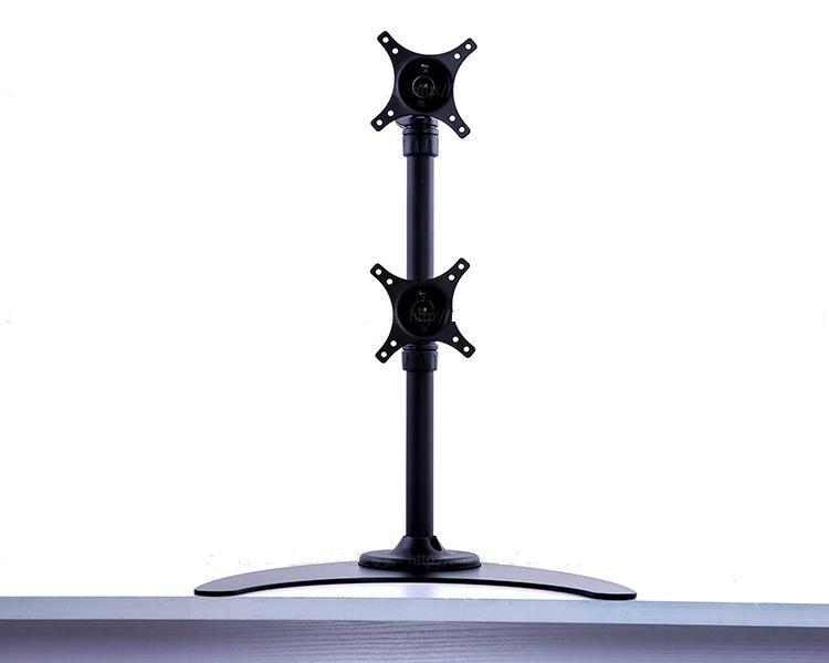 上下屏電腦挂架  証券顯示器支架  雙屏電腦支架 3