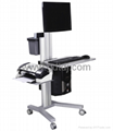 Lcd stand lift car Medical computer mobile rack   1
