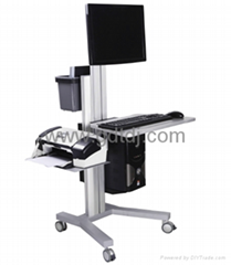 Lcd stand lift car Medical computer mobile rack