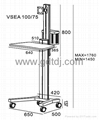 Lcd stand lift car Medical computer mobile rack   2