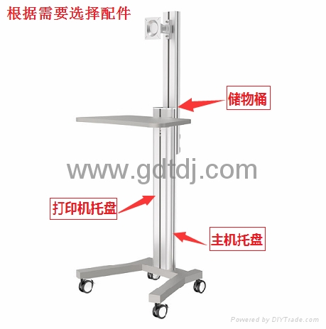 Lcd stand lift car Medical computer mobile rack   3