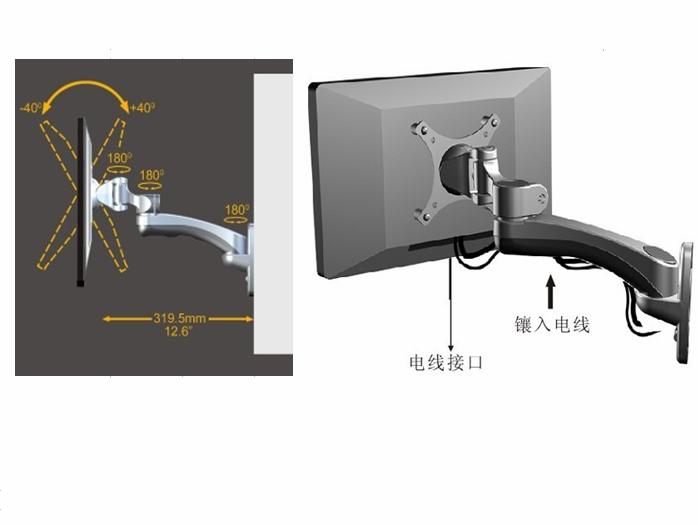 電腦壁挂架 一體機壁挂架  顯示器挂架 WMA-300 3
