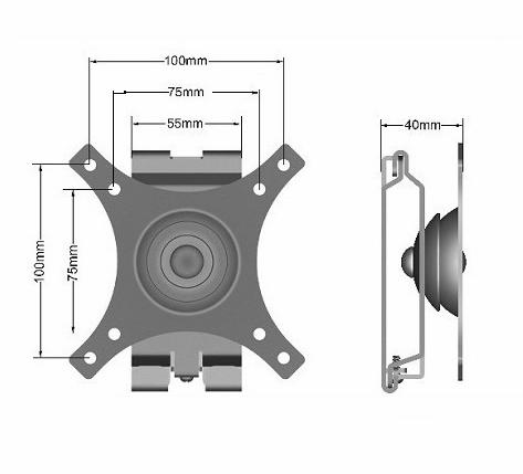 Lcd tv mounts  360°Wall mounts N3N1-S 2