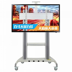 Mobile TV stand Video Conferencing Universal TV Cart 65-84inch