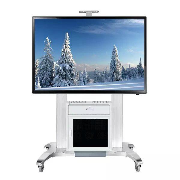 """65""""-100""""会议移动电视架  带机柜电视移动架GF100 2"""