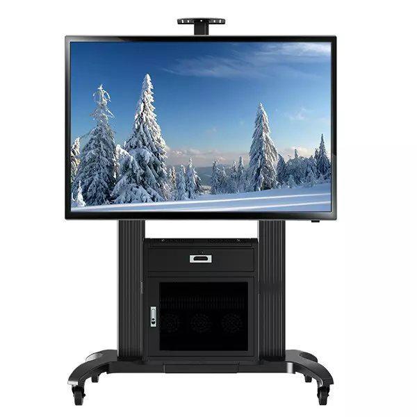 """65""""-100""""会议移动电视架  带机柜电视移动架GF100 1"""