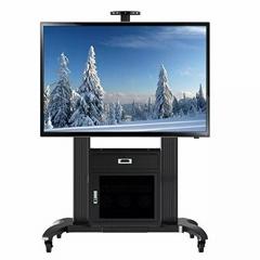 """65""""-100""""会议移动电视架  带机柜电视移动架GF100"""