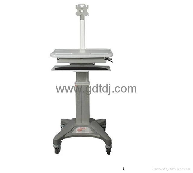 医疗电脑移动架 显示器移动架 医疗移动工作台   4