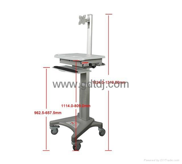 医疗电脑移动架 显示器移动架 医疗移动工作台   5