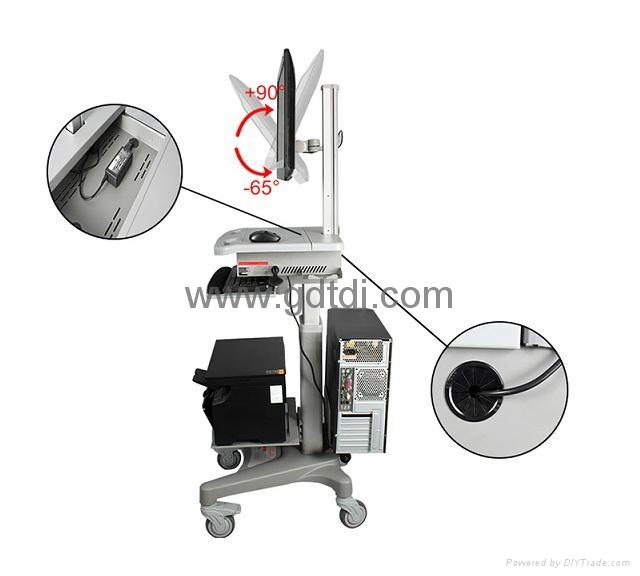 医疗电脑移动架 显示器移动架 医疗移动工作台   6