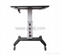 气压升降办公桌 移动办公桌 移动工作台  笔记本办公桌 4