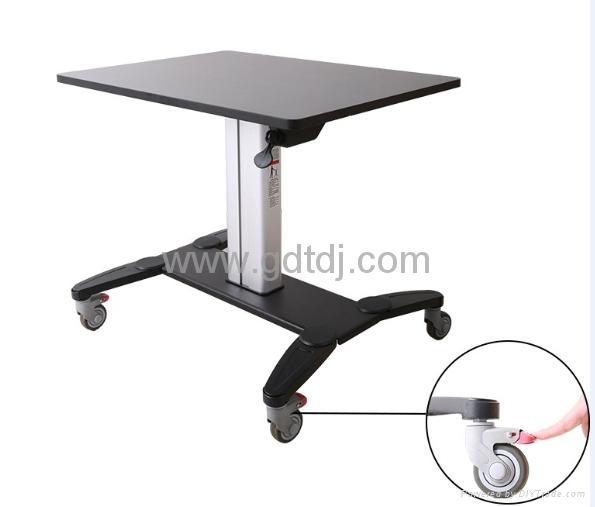 氣壓昇降辦公桌 移動辦公桌 移動工作台  筆記本辦公桌 3