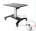 气压升降办公桌 移动办公桌 移动工作台  笔记本办公桌 3