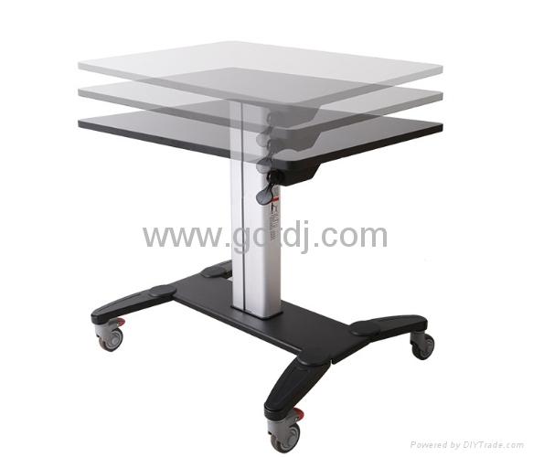 氣壓昇降辦公桌 移動辦公桌 移動工作台  筆記本辦公桌 5