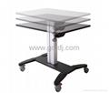 气压升降办公桌 移动办公桌 移动工作台  笔记本办公桌 5