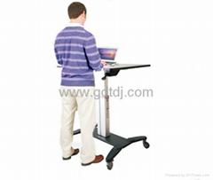 气压升降办公桌 移动办公桌 移动工作台  笔记本办公桌