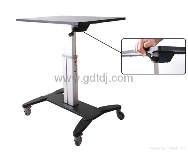 气压升降办公桌 移动办公桌 移动工作台  笔记本办公桌 6