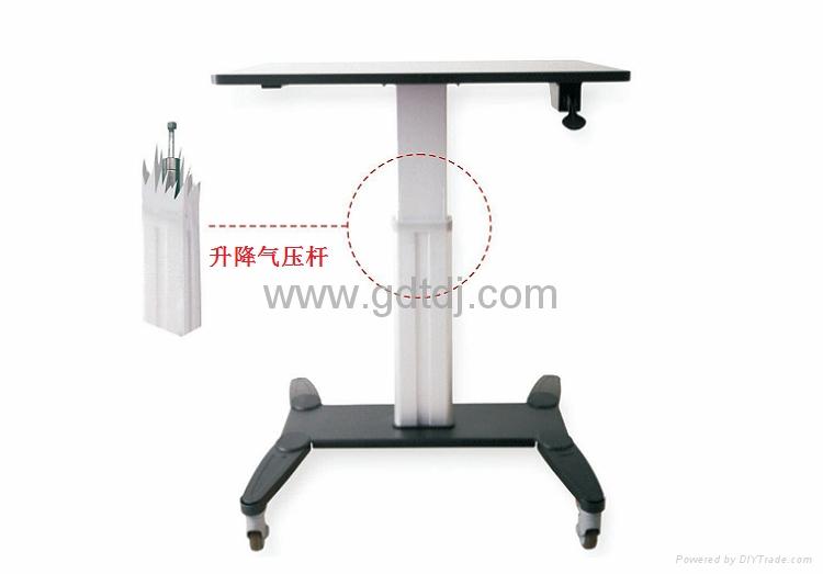 气压升降办公桌 移动办公桌 移动工作台  笔记本办公桌 2