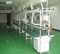 西安工作长台PVC皮带线流水线