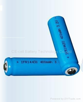 磷酸铁锂电池 14430-400mAh 1