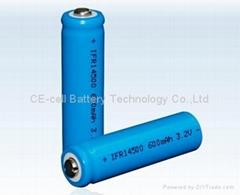 磷酸铁锂电池 14500-600mAh