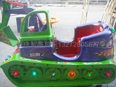 坦克挖機儿童投幣電動搖搖車