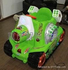 儿童投币电动激光坦克摇摆机