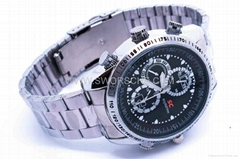 Stainless Steel Watch Camera Built in 4GB Memory and High Capacity Li Battery