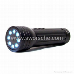 LED Flashlight Hidden Camera Built in 750mAh Rechargeable Battery 2.0M Pixels