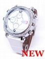 Women Watch Camera with H264 Video Compression of Noble Lady Watch Design