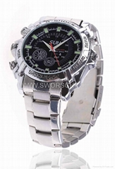 IR Nightvision Watch Camera with HD1080P Video Recording Frame Rate 30FPS AVI