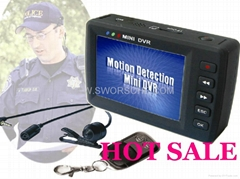Police Recorder Button Spy Camera With 2.5inch TFT Screen and Motion Detected