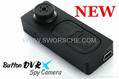 Mini Button Camera with 720x480 Video Resoution Support Max 16GB TF Card