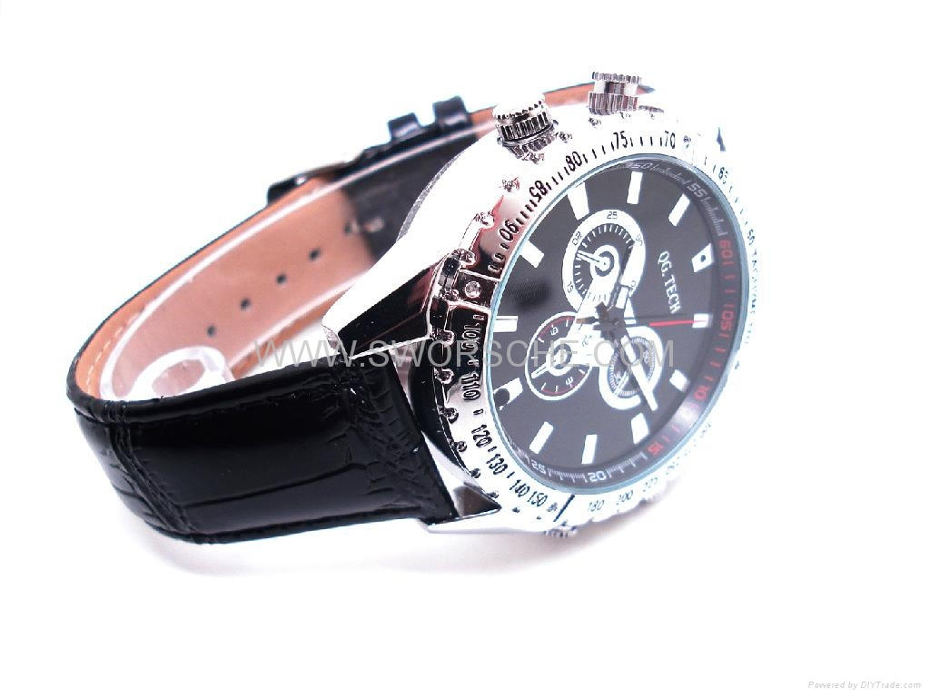 Leather Band Watch Camera with HD  Resolution 2