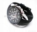 Leather Band Watch Camera with HD Photo Resolution 4032x3024 Fashion Watch