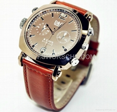 HD1080P IR Watch Camera with Automatic IR Sensing and 36hours LED lightning