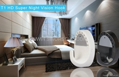 HD720P Coat Hook Camera with Nightvision and Motion Detection Anti Theft Record