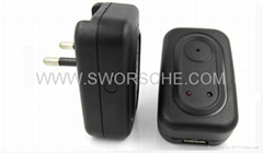 Power Adapter Hidden Camera Built in 4GB Memory with Motion Detection Recording