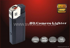 HD1080P Lighter Camera with Real Lighter Ignition and Flashlight Function