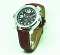 H264 Nightvision Watch Camera with LED Lighting and Lashing Saving Files