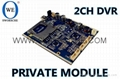 2CH SD Card DVR Module Board NXBoard_SWORSCHE Private DVR Storage Module