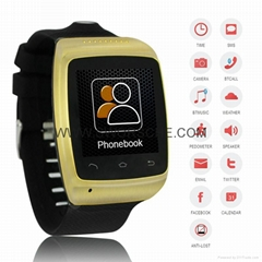 Smart Camera Watch with Pedometer Function Bluetooth watch Built in 8GB Memory