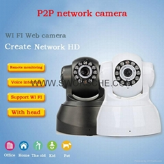 Wireless WIFI IP Network Camera Support P2P Plug and Play PTZ Dome Camera IR Led