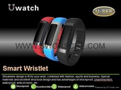 U9 Smart Wristwatch Intelligent Bracelet with WIFI Pedometer Alarm Clock Functio