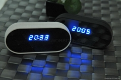 Home Security HD1080P WIFI Clock Camera with 8.0M CMOS H264 Video Compression