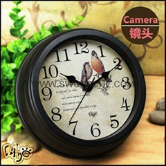 WIFI Clock IP Camera with HD1080P Resolution Video Recording Iphone Android