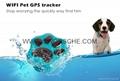 WIFI Pet GPS Tracker WIFI Anti Lost Gog GPS Tracker Geo Fence IP66 Waterproof