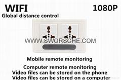 HD1080P Wifi Wall Socket Camera True Socket Function WIFI APP Remote Surveillanc