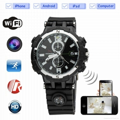 HD720P WIFI Spy Watch Camera  IR Nightvision